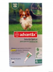 Advantix spot on 1x0,4ml pro psy do 4 kg